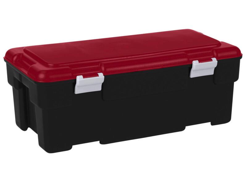 Keter Voyager boîte de rangement 65l noir-rouge