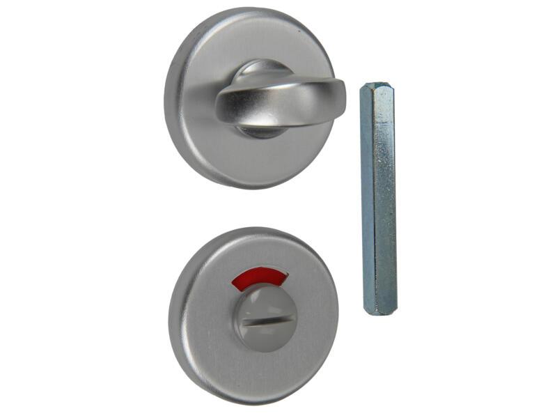 Yale WC-slot met rozet aluminium natuur