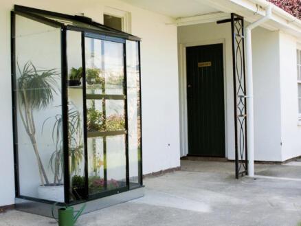 Halls Wallgarden 42 serre adossée verre horticole vert
