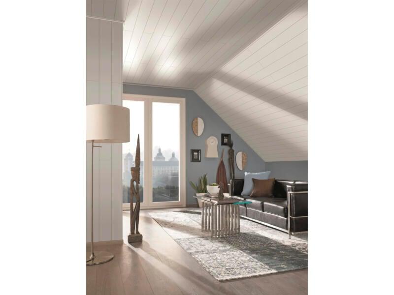 Wand- en plafondpaneel 130x15,4 cm 2,4m² uni wit