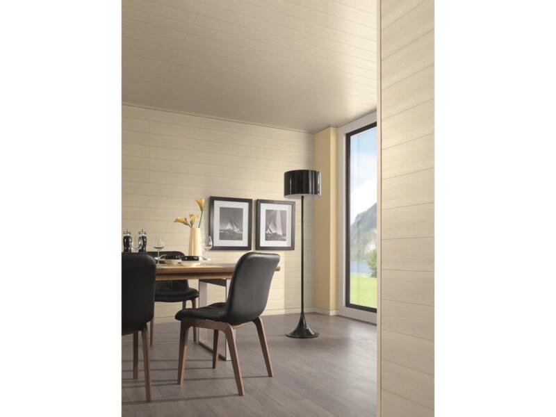 Wand- en plafondpaneel 260x15,4 cm 4,8m² peer wit