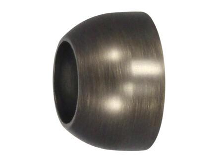 Wandrozet gordijnroede 20mm brons