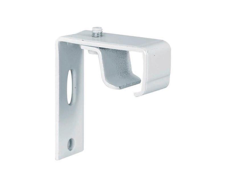 Wandsteun gordijnrails 5cm wit 4 stuks