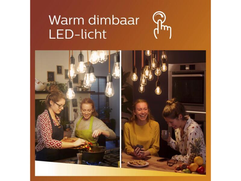 Philips WarmGlow LED spot GU10 4W dimbaar 3 stuks