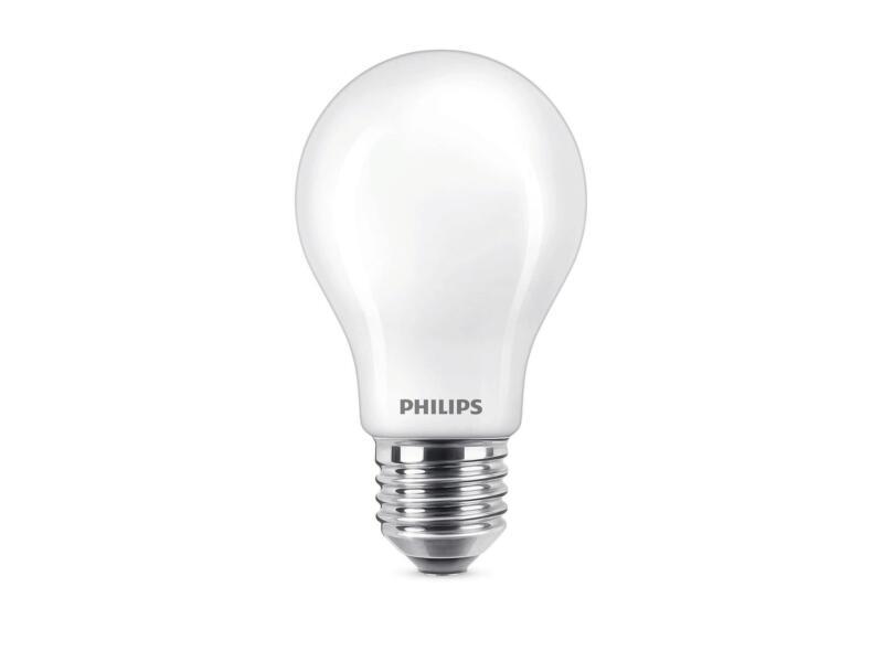 Philips WarmGlow ampoule LED poire verre mat E27 5W dimmable