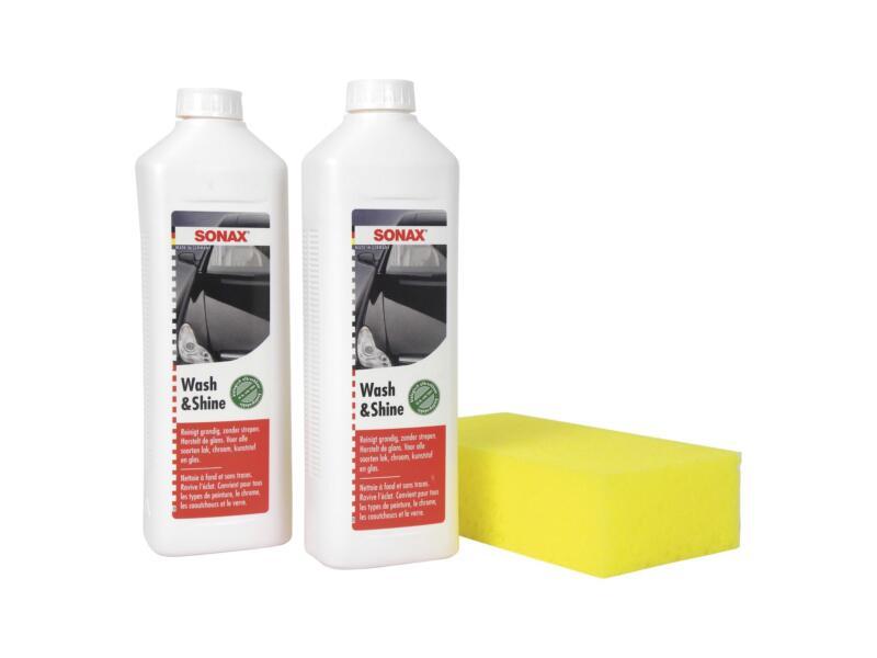 Sonax Wash & Shine autoshampoo 2x 500ml + spons
