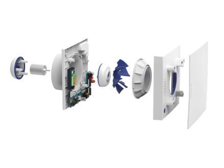 Renson Waves mechanische verluchter 100-125mm met CO²-sensor wit