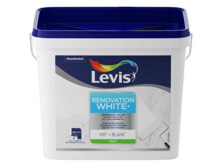 Levis White+ Renovation peinture mur & plafond mat 5l blanc