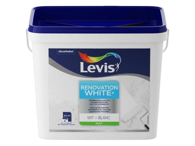 Levis White Renovation Peinture Mur Plafond Mat 5l Blanc Hubo