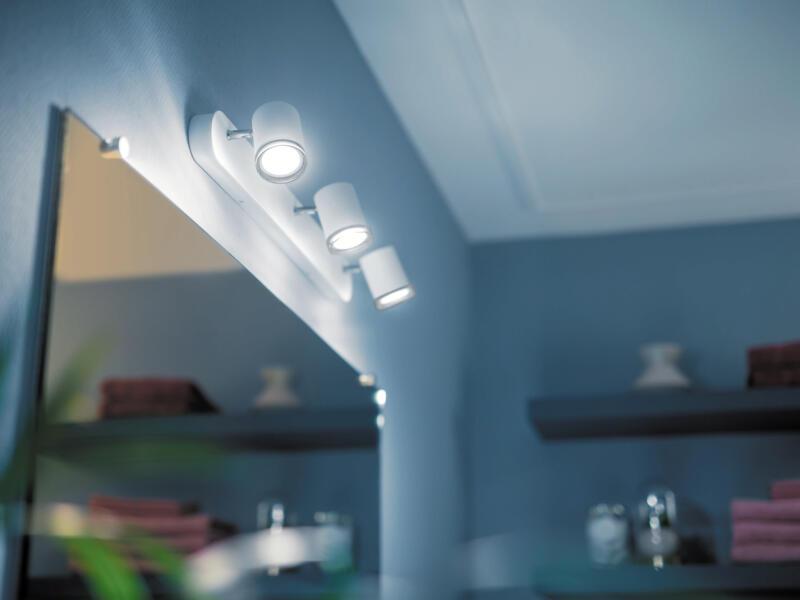Philips Hue White Ambiance Adore barre de spots LED GU10 3x5,5 W + dimmer blanc