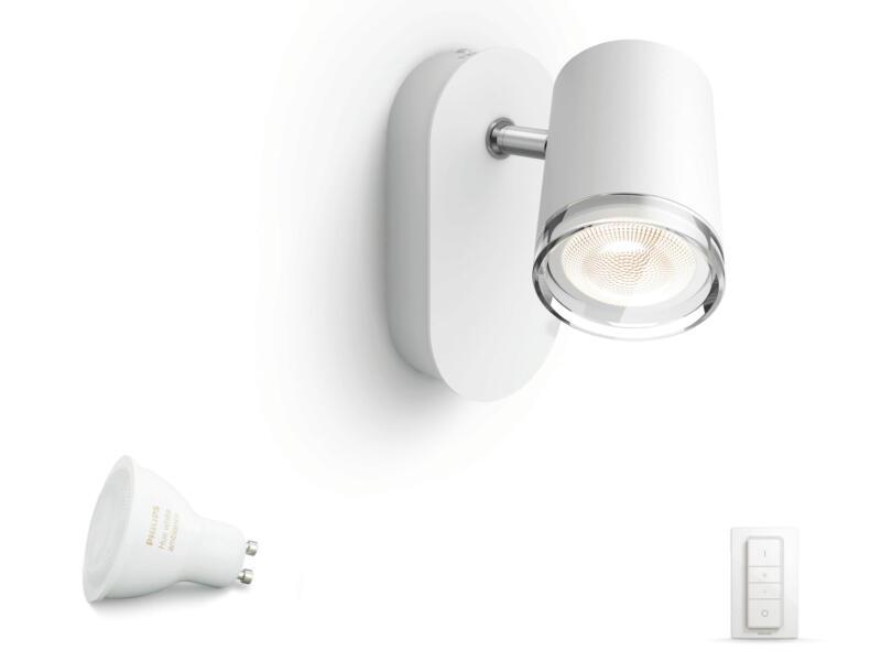 Philips Hue White Ambiance Adore spot mural LED GU10 5,5W + dimmer blanc