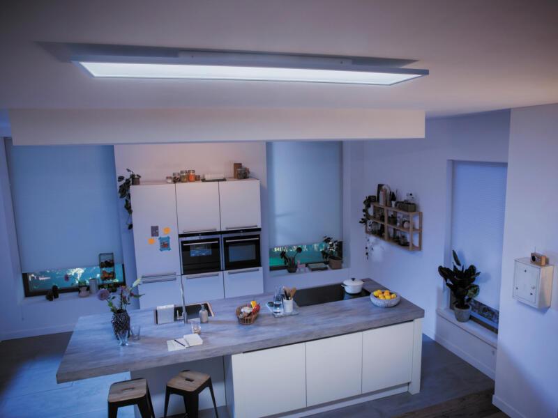 Philips Hue White Ambiance Aurelle plafonnier LED rectangulaire 55W dimmable + télécommande blanc
