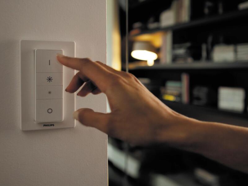 Philips Hue White Ambiance Pillar LED plafondspot GU10 5,5W dimbaar + afstandsbediening zwart
