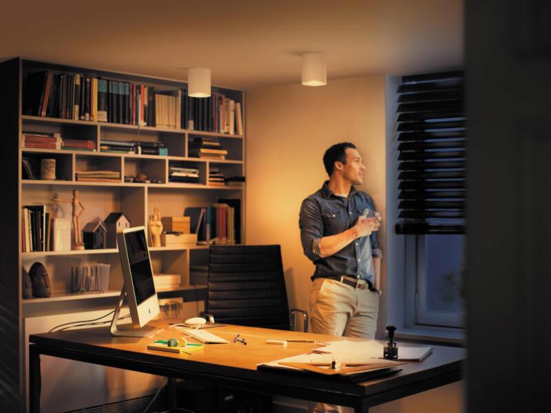 Philips Hue White Ambiance Pillar spot de plafond LED GU10 5,5W dimmable + télécommande blanc