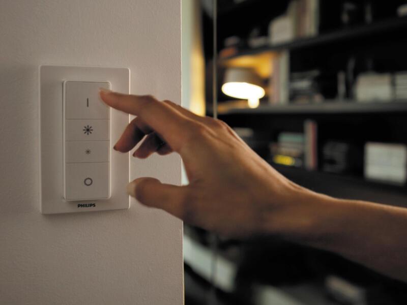 Philips Hue White Ambiance Pillar spot de plafond LED GU10 5W dimmable + télécommande noir