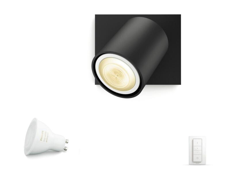 Philips Hue White Ambiance Runner spot mural LED GU10 5,5W + dimmer noir