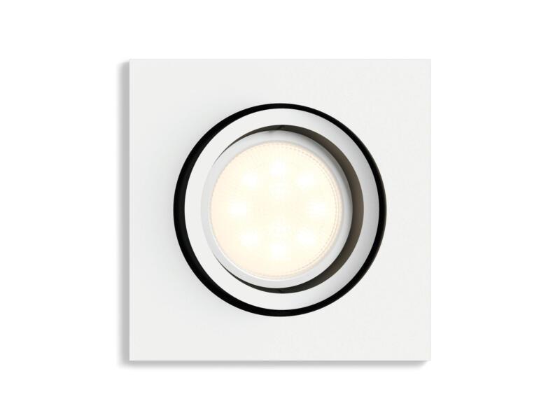 Philips Hue White Ambiance spot LED encastrable GU10 5,5W + dimmer blanc