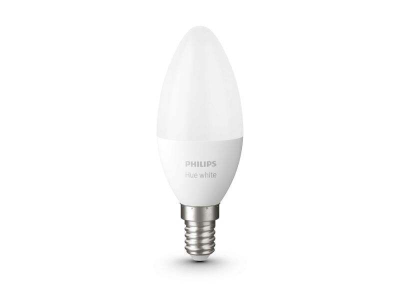 Philips Hue White LED kaarslamp E14 5,5W dimbaar