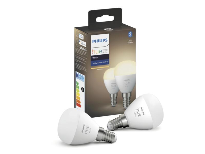 Philips Hue White LED kogellamp E14 2x5,5 W dimbaar RGB