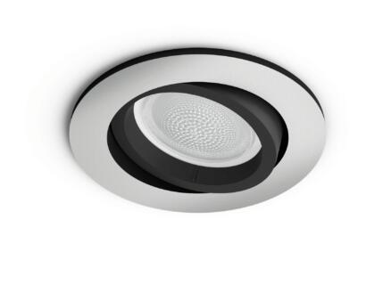 Philips Hue White and Color Ambiance Centura LED inbouwspot rond GU10 5,5W dimbaar aluminium