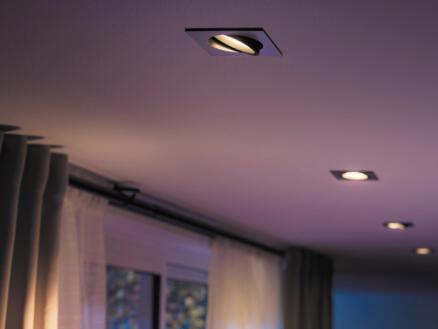 Philips Hue White and Color Ambiance Centura LED inbouwspot vierkant GU10 5,5W dimbaar aluminium
