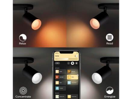 Philips Hue White and Color Ambiance Fugato LED balkspot GU10 2x5,5 W dimbaar zwart
