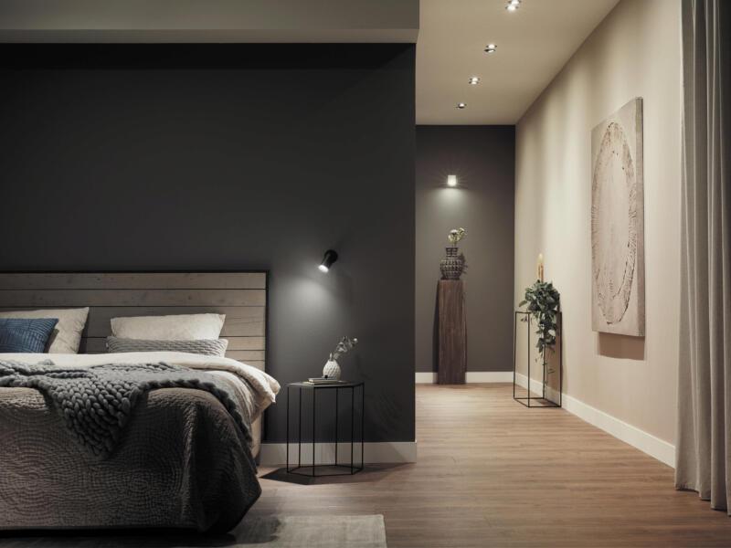 Philips Hue White and Color Ambiance Fugato LED wandspot GU10 5,5W dimbaar zwart