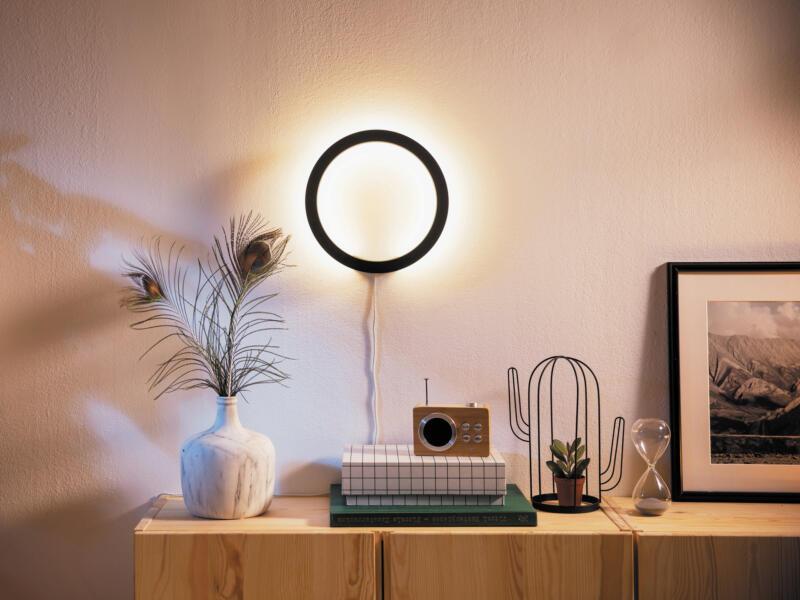 Philips Hue White and Color Ambiance Sana applique murale LED 20W dimmable + télécommande noir