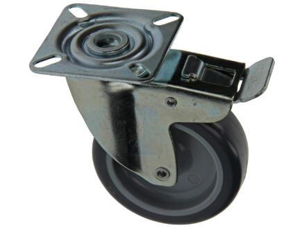 Sam Wiel 75mm met 2 lagers, plaat en rem rubber