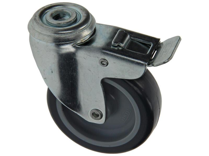 Sam Wiel 75mm met 2 lagers en rem rubber