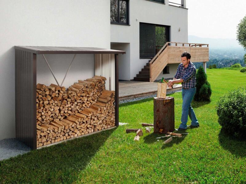Biohort WoodStock 230 houtopslag 229x102x199 cm donkergrijs metallic