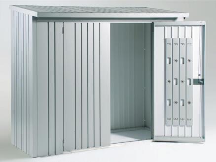Biohort WoodStock 230 houtopslag 229x102x199 cm zilver metallic