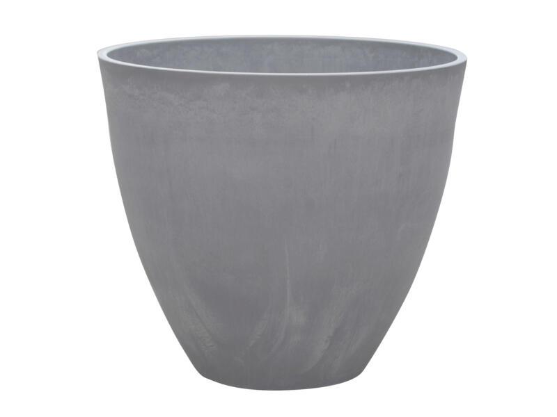 Woodstone pot à fleurs 45cm 39cm light charcoal