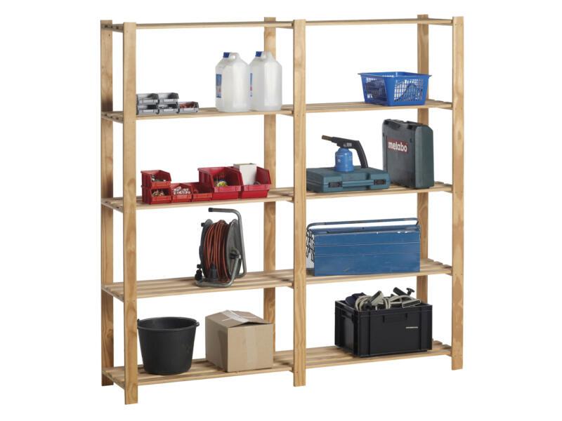 Practo Home Woody étagère double 175x175x40 cm
