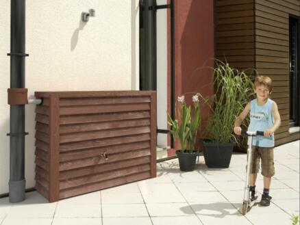 Garantia Woody tonneau de pluie 350l bois foncé