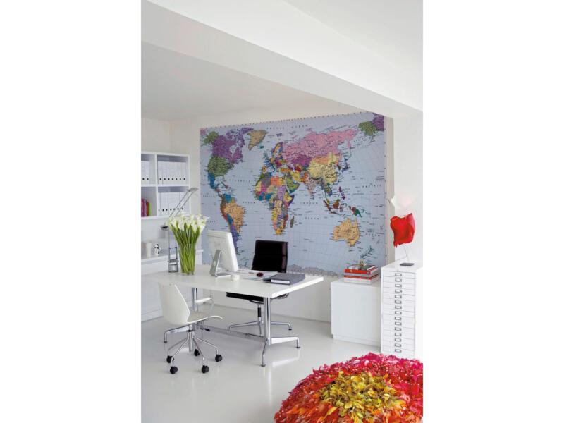 World Map papier peint photo 4 bandes