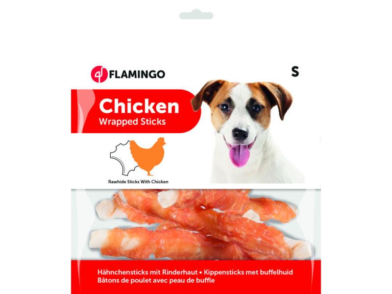 Flamingo Wrapped Sticks hondensnack kip 12cm 350g