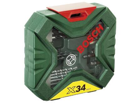 Bosch X-Line Classic coffret de forets et d'embouts de vissage 34 pièces
