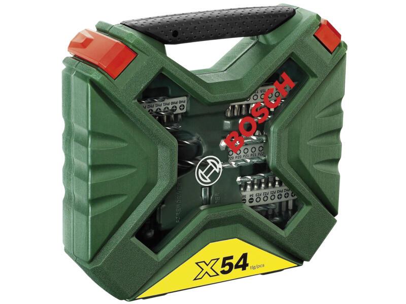 Bosch X-Line coffret d'accessoires vissage & perçage 54 pièces