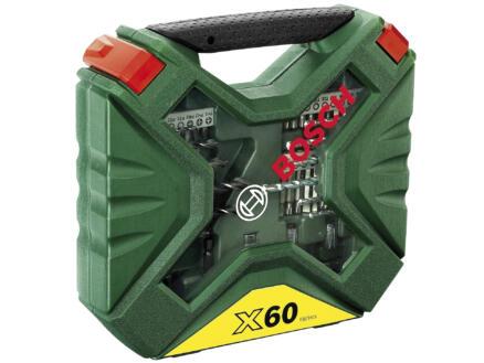 Bosch X-Line coffret d'accessoires vissage & perçage 60 pièces