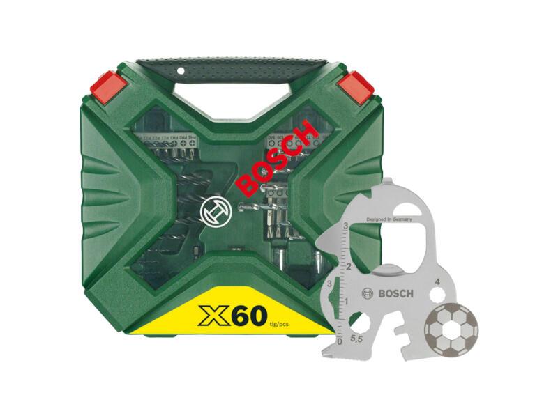 Bosch X-Line coffret de mèches et d'embouts set de 60 + accessoire