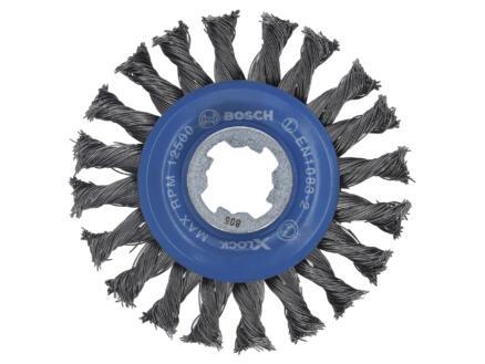 Bosch Professional X-Lock kegelborstel gevlochten draad 115mm staal