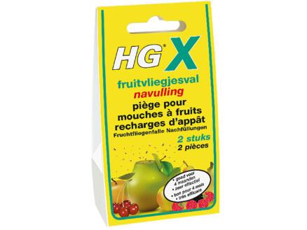 HG X recharge piège mouches à fruits 20ml 2 pièces