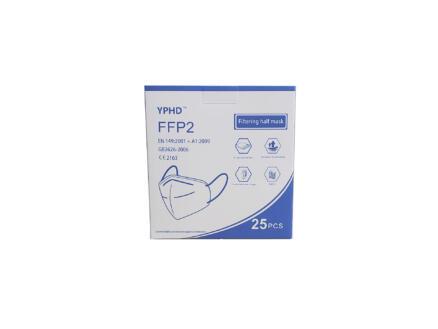 YPHD FFP2 masque de protection 25 pièces