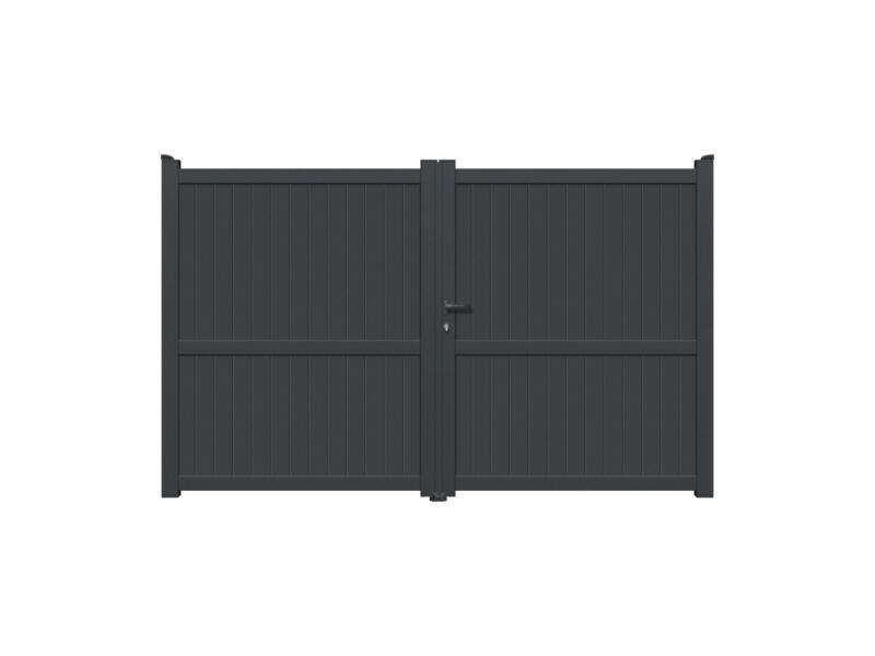 Yecla dubbele poort 300x180 cm antraciet