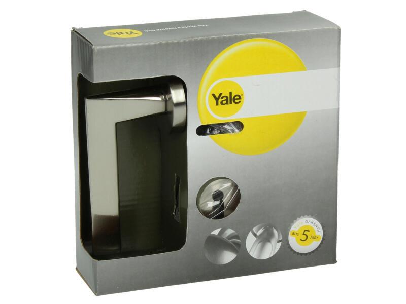 Yale Zach BB deurklinkset op rozet 51mm mat vernikkeld