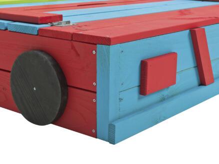 Zandbak Auto 120x120 cm gekleurd
