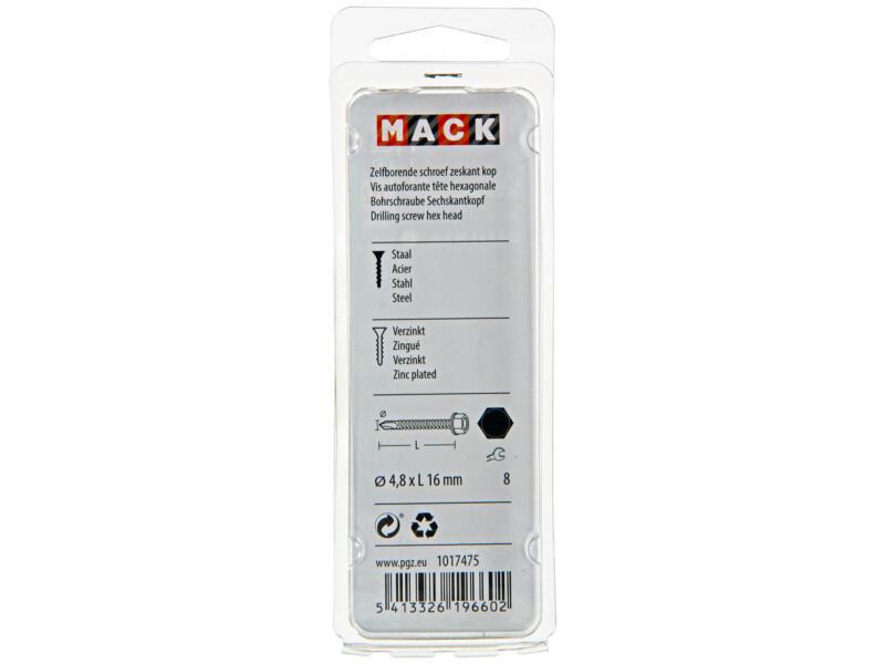 Mack Zelfborende schroeven H8 16x4,8 mm verzinkt 24 stuks