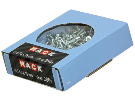Mack Zelfborende schroeven PZ2 16x3,5 mm verzinkt 200 stuks