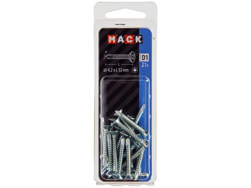 Mack Zelfborende schroeven PZ2 32x4,2 mm verzinkt 21 stuks
